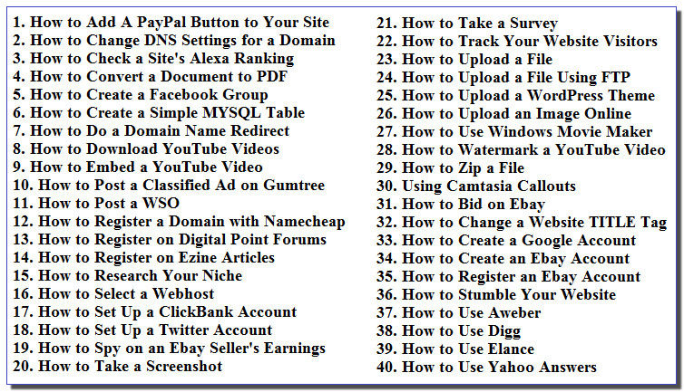 40 IM Tutorial Videos - With PLR