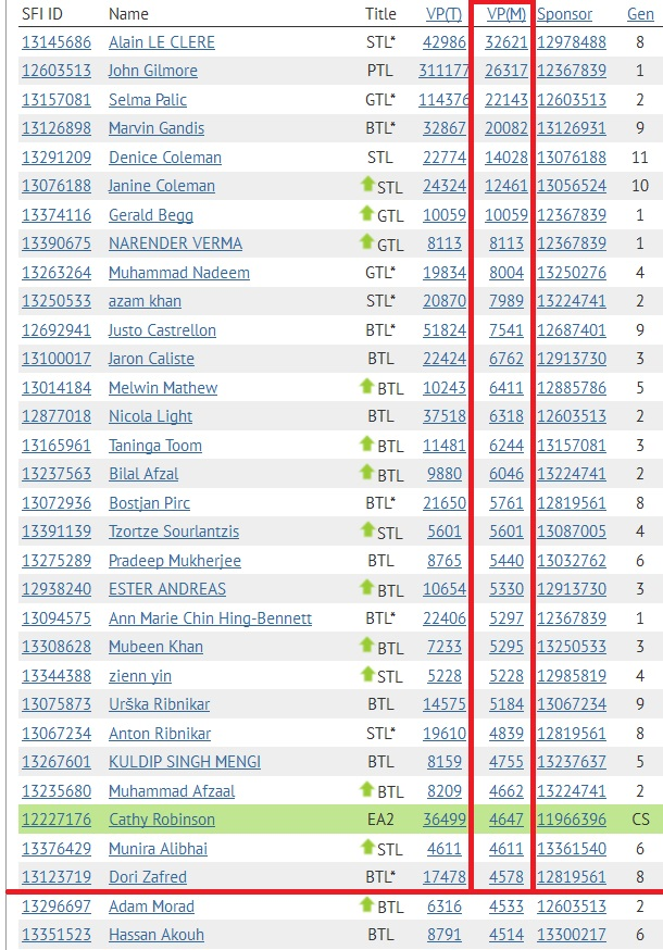 SFI Top 30 VPs November 28th